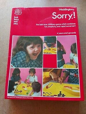 £34.99 • Buy  Waddingtons Sorry Board Game Complete Rare Vintage