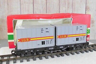 AU51.57 • Buy LGB (4069)  LGB FLAT CAR With (2) SHIPPING CONTAINERS
