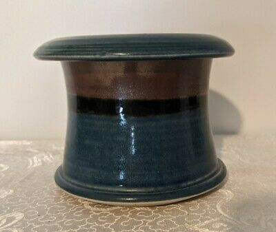 £10.59 • Buy Studio Pottery Blue Glazed French Butter Bell Keeper Artist Signed - New Unused