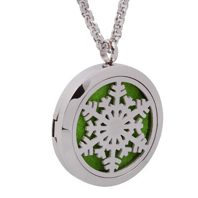 AU11.75 • Buy Snowflake Pendant Necklace Aromatherapy Essential Oil Diffuser Jewelry