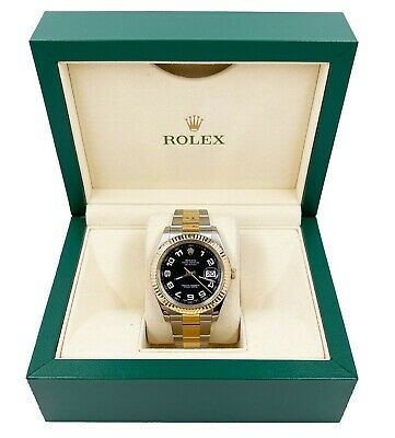 $ CDN14551.74 • Buy Rolex 116333 Datejust 41 Black Arabic Dial 18K Yellow Gold Stainless Steel