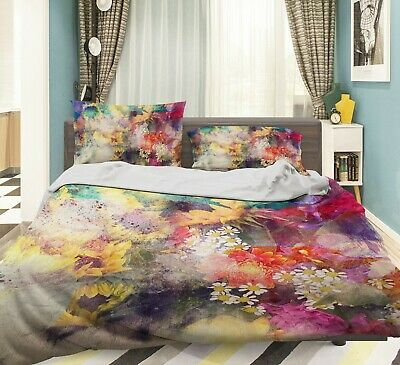 AU116.99 • Buy 3D Retro Daisy NAO2605 Bed Pillowcases Quilt Duvet Cover Set Queen King Fay