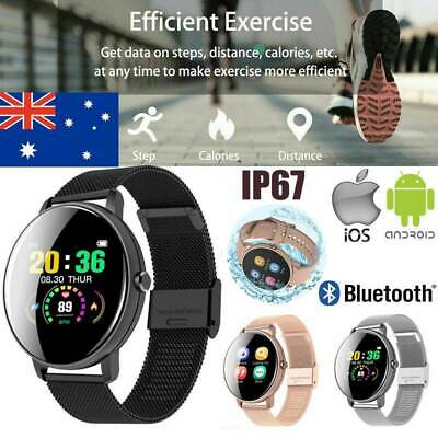 AU30.49 • Buy Womens Smart Watch Bracelet Fitness Tracker Heart Rate Monitor Iphone Samsung AU