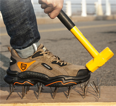 AU61.79 • Buy Men's Safety Shoes Steel Toe Cap Work Boots Lightweight Safety Trainers HIKING