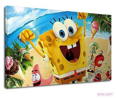 £38.99 • Buy Spongebob In The Beach With Friends Digital Art Canvas Wall Art Picture Print