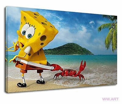 £38.99 • Buy Little Red Crab Pulling Spongebob's Pants Canvas Wall Art Picture Print