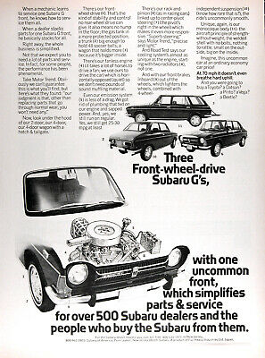 $ CDN18.73 • Buy 1972 SUBARU COUPE SEDAN & WAGON G Authentic Vintage Ad ~ FREE SHIPPING!