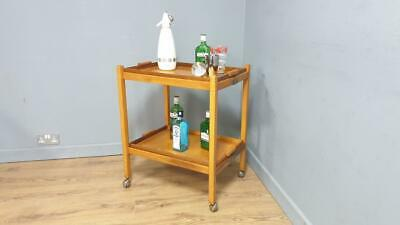 £115 • Buy Art Deco Style Two Tier Drinks Trolley Original Casters Folding Two Trays