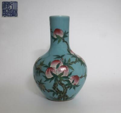 $ CDN199.96 • Buy Fine Chinese Famille Rose Porcelain Vase Qianlong Marked Painting Peach (106)