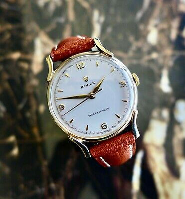 $ CDN4933.66 • Buy A BEAUTIFUL VINTAGE 1955 MID-SIZE ROLEX PRECISION WITH FANCY LUGS IN 9ct GOLD