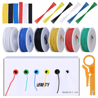 22AWG Electronics Wire Kit, Jumper Wire Hook Up Wire Kit Flexible Silicone Wire • 22.18£