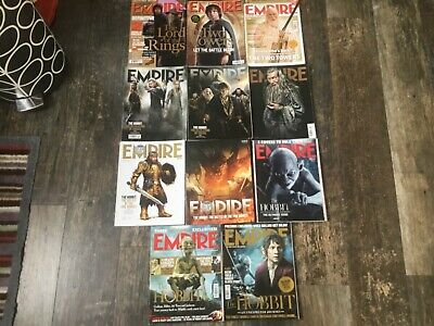 £17 • Buy EMPIRE MAGAZINE, Featuring LORD OF THE RINGS MOVIE 13 Mags THE HOBBIT P Jackson
