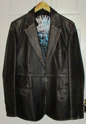 Leather Jacket - Designer Brand - Ringspun - Stunning Condition • 59.95£