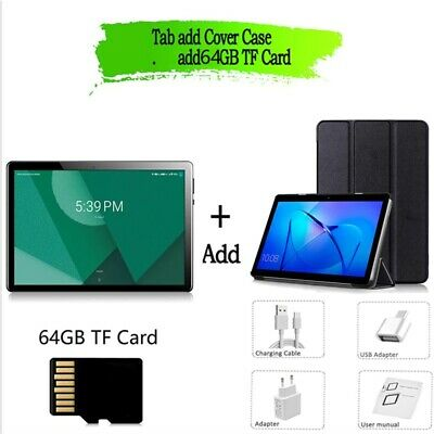 £129.11 • Buy 2021 4G LTE Tablets 10.1 Inch Android 9.0 Octa Core Google Play Dual + TF Card