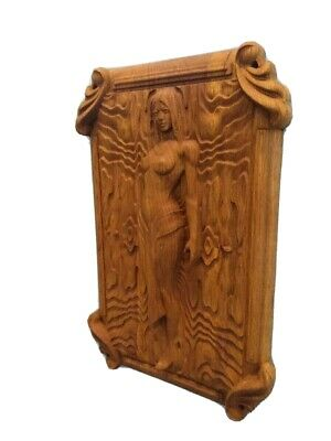 £65 • Buy Carved Wooden Wall Panel