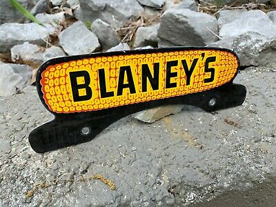 $ CDN146.92 • Buy  BLANEY'S  PORCELAIN LICENSE PLATE TAG TOPPER, (10 X 3.5 ) NICE CONDITION