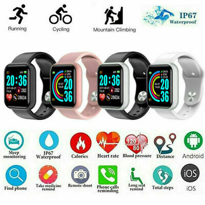 AU11.98 • Buy Touch Smart Watch Bluetooth Heart Rate Blood Pressure Waterproof For IOS Android