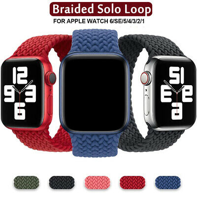 $ CDN4.04 • Buy Braided Solo Loop Silicone Strap Soft Band For Apple Watch Series 6 5 4 3 2 1 SE