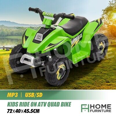 AU79.50 • Buy Kids Ride On ATV Quad 4 Wheeler Electric Toy Car  6V Rechargeable Battery Green