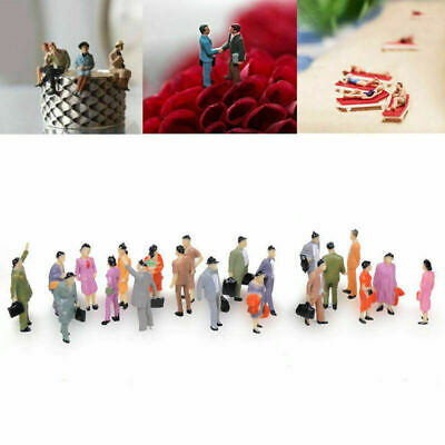 $4.89 • Buy 100PC Scale 1:150 Mix Painted Model Train Street Passenger & CL People H2G0