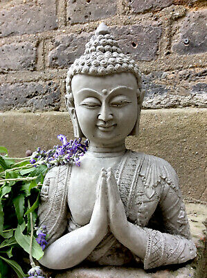 Divine Beautifully Thai Detailed Buddhas Bust  Statue , For The Home Or Garden. • 19£