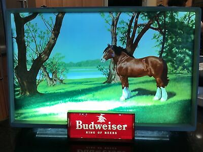 $ CDN93.72 • Buy Vintage Illuminated Budweiser Sign Item#182. Beautiful Scenic View. Clydesdales!