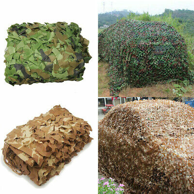 $23.99 • Buy Military Camouflage Netting Hunting Camo Camping Army Net Woodland Desert Leaves