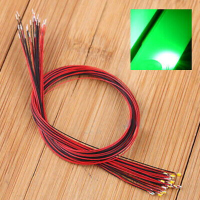 $8.80 • Buy 10pcs 0402 Pre-soldered Micro Litz Wired Leads Green SMD Led 200mm Length Tool