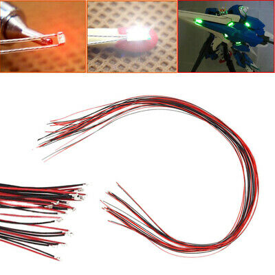 $8.40 • Buy 10pcs 0402 Pre-soldered Micro Litz Wired Leads Red SMD Led Lamp 200mm Tool