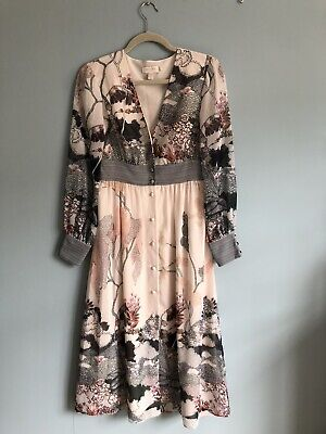 AU143.57 • Buy Ted Baker Blush Print Midi Dress Size 1