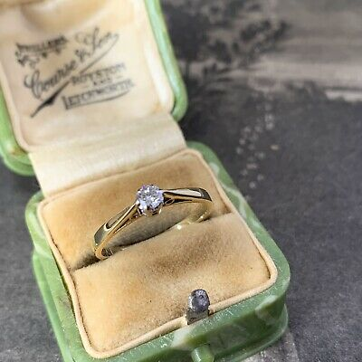 £275 • Buy Vintage 18ct Gold Diamond Solitaire Engagement Ring Hallmarked 2.1gms, UK K 1/2