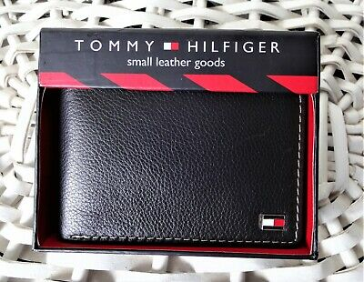 £18.99 • Buy Men's Leather Wallet 'Tommy Hilfiger' Bifold, BLACK,Coin Pouch, MRP $60.00, SALE
