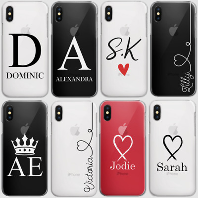 AU15.34 • Buy Personalised Initials Phone Case Clear Hard Cover For Oppo Nokia Oneplu6 6 T…