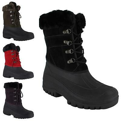 £25.99 • Buy Women Ankle Muck Boots Ladies Stable Yard Front Lace Up Winter Warmth Snow Shoes
