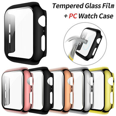 $ CDN4.64 • Buy IWatch Screen Protector Hard Case Cover 38/42/40/44mm For Apple Watch 6 5 4 3 SE