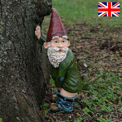 £9.69 • Buy Naughty Garden Gnome For Lawn Ornaments Funny Dwarfs Indoor Outdoor Decor