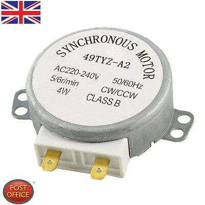 £6.89 • Buy CW/CCW Turntable Microwave Oven Synchronous Motor AC 220-240V 4RPM 4W Uomtj