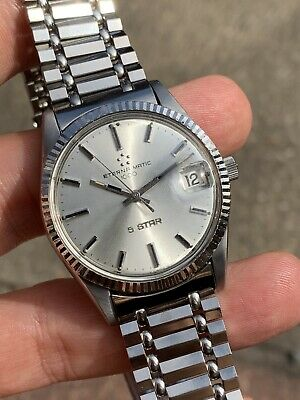 Vintage Eterna 'Datejust' 5star Automatic Mens Watch Swiss Made Box + Papers • 689£