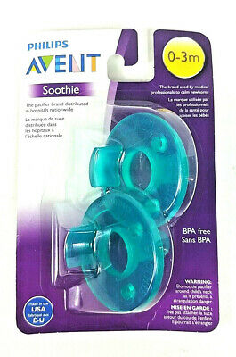 AU9.56 • Buy Philips AVENT 2 Pack Soothie Pacifier 0-3mth Green/Green BPA Free NEW SEALED