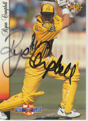 AU6 • Buy Ryan Campbell Hand Signed 1997 Select Cricket Card