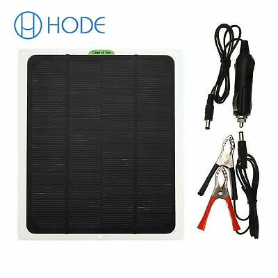 £11.44 • Buy 20W 12V Car Boat Yacht Solar Panel Trickle Battery Charger Power Supply UK