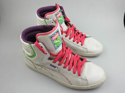 AU39.99 • Buy Women's PUMA 'First Round' Sz 9.5 US Shoes White Pink VGCon   3+ Extra 10% Off