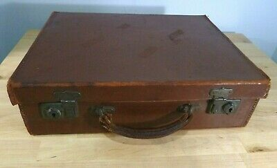 £18.99 • Buy Small Vintage Leather Suitcase