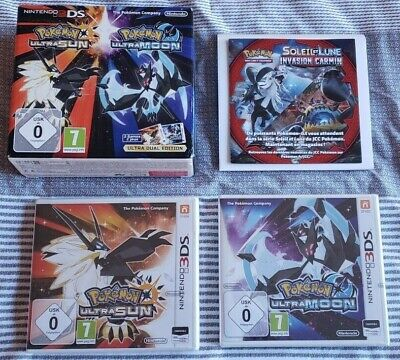 AU200.37 • Buy POKEMON ULTRA SUN MOON DUAL EDITION EUROPE EXCLUSIVE Fan Pack! SEALED USUM GAMES