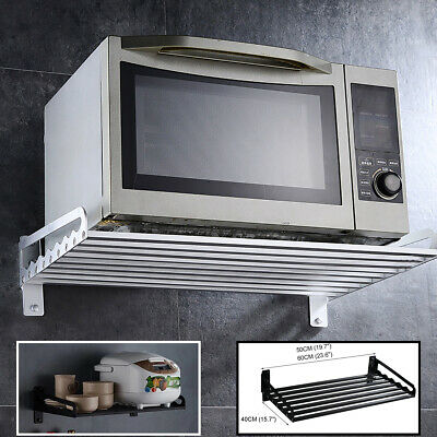 £51.03 • Buy Kitchen Aluminum Wall Hanging Microwave Oven Stand Storage Rack Shelf Bracket I
