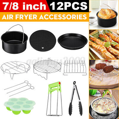 AU23.49 • Buy 12Pcs 7'' - 8'' Air Fryer Accessories Set Cake Barrel Set For Philips