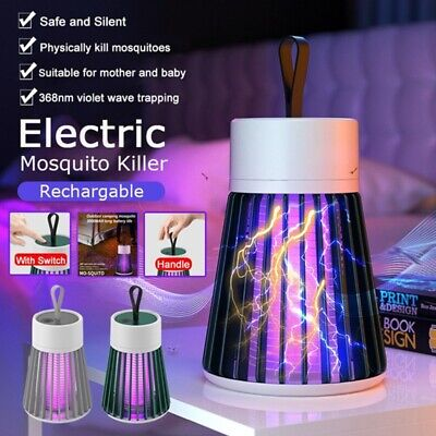 £10.59 • Buy Rechargeable Electric Fly Bug Zapper Mosquito Insect Killer LED Light Trap Lamp