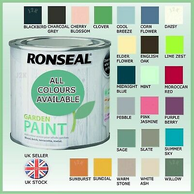 £12.95 • Buy Ronseal Outdoor Garden Paint All Colours Exterior Wood Metal Stone Brick