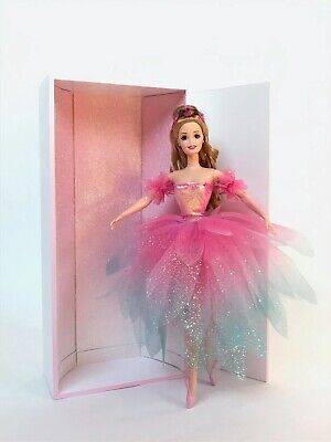 £59 • Buy Ooak Barbie Ballerina Doll In Hand Made Glittery Flower Dress With A Special Box