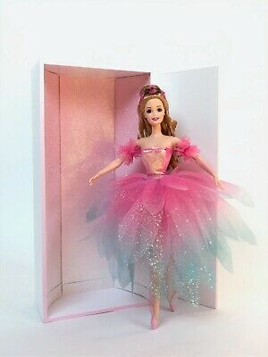 Ooak Barbie Ballerina Doll In Hand Made Glittery Flower Dress With A Special Box • 59£